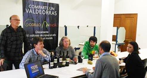 Photo of A Master of Wine Angela Muir cata godellos e mencías valdeorreses