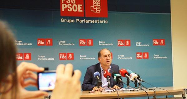 Xoaquín Fernández Leiceaga, durante a rolda de prensa.