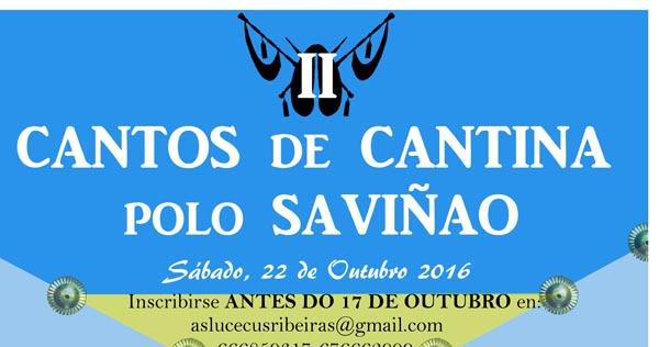 Photo of II Cantos de Cantina polo Saviñao, o 22 de outubro