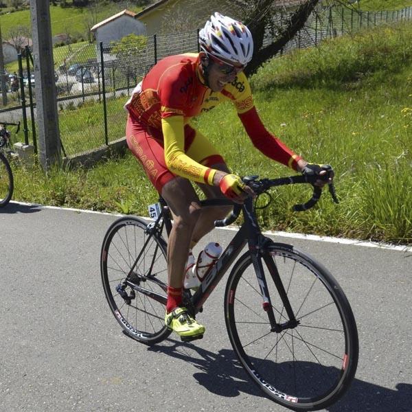 O ciclista barquense Rodrigo Enríquez.