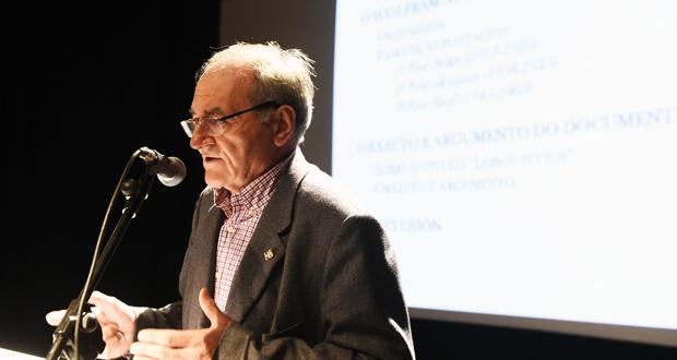 "Photo of Isidro G. Tato fala no Barco sobre o wolfram e ""as minas de Valborrás"""