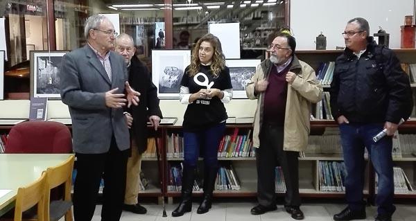 Photo of Exposición sobre as minas de wolfram de Casaio, na biblioteca do Barco