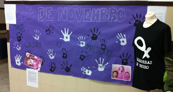 Photo of Alumnos e profesores do IES Martaguisela fan un vídeo contra a violencia de xénero