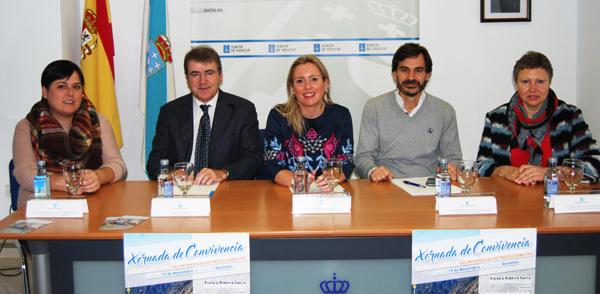 Un dos momentos da presentación deste encontro, en Ourense.