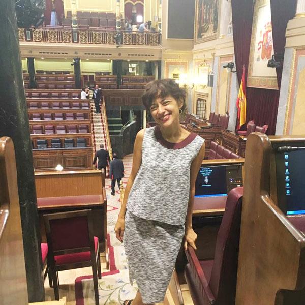 A deputada por Ourense do PSOE, Rocío de Frutos, no Congreso.