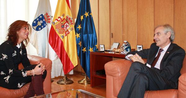 Photo of Reunión do subdelegado do Goberno en Ourense coa delegada provincial da Xunta