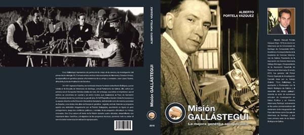 """Portada e contraportada do libro """"Misión Gallástegui""""."""