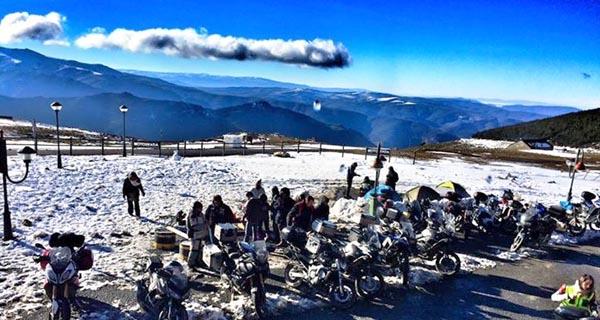 Photo of Encontro mototurístico invernal en Trevinca