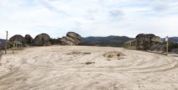 Imaxe diurna do Miradoiro Estelar do Rañadoiro, na Veiga./ Foto cedida polo Concello.