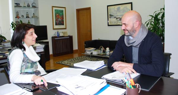 Photo of A conselleira do Medio Rural recibe ao alcalde de Bande
