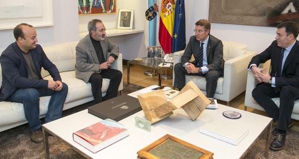 Photo of Reunión da Fundación Carlos Casares co presidente da Xunta