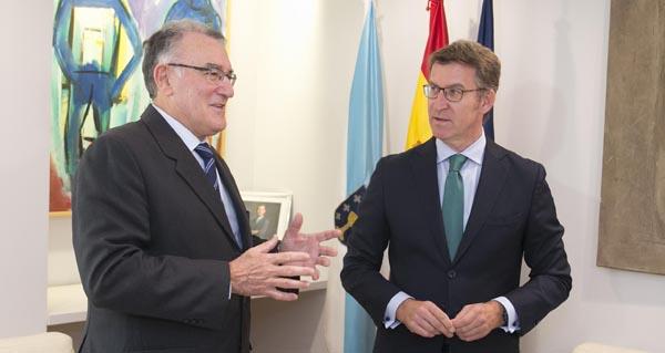 Photo of A cooperación local, eixo da reunión entre os presidentes da Xunta e da Fegamp