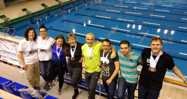 Photo of Sete nadadores do Adas nos podios do galego máster de inverno