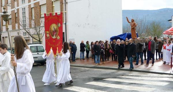 Photo of Veigamuíños saca en procesión ao seu patrón, Santo Tirso