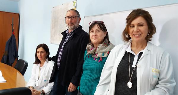Photo of Peche da Xunta de Persoal no despacho do xerente do hospital valdeorrés