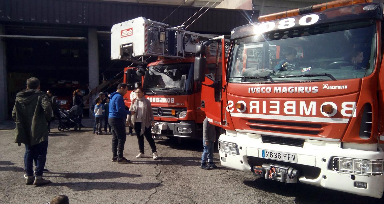 Photo of O parque de bombeiros de Ourense abriu as súas portas para amosar o seu traballo á cidadanía