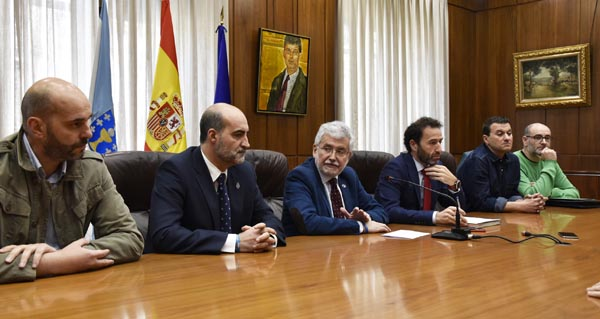 Photo of Reunión dos concellos afectados polos peches dos rexistros da propiedade coa Deputación