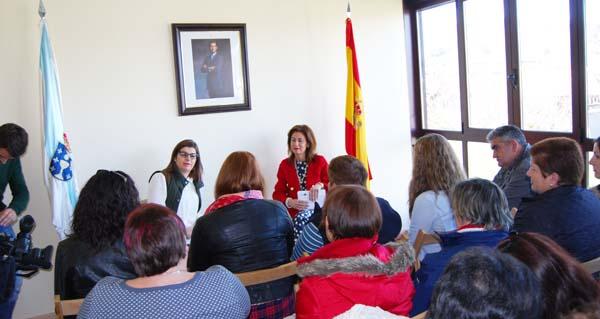 Photo of A delegada da Xunta, no acto do Día da Muller en Porqueira