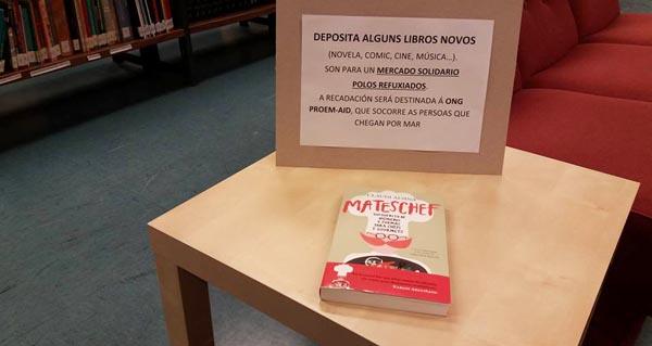 Photo of Recollida de libros a favor dos refuxiados, na Biblioteca da Rúa