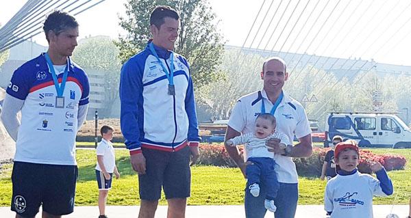 Photo of Jesús Rodríguez e Bernardo Sánchez, no podium do Open de Pontevedra
