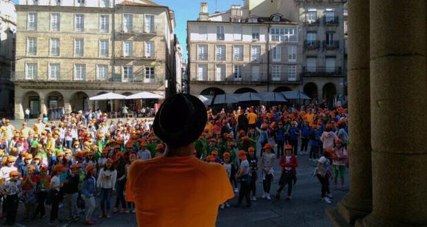 """Photo of O Correlingua anima aos escolares ourensáns a usar o galego """"sen cancelas"""""""