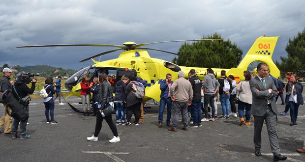 Photo of O helicóptero do 061 copou a atención do público na clausura de Previsel