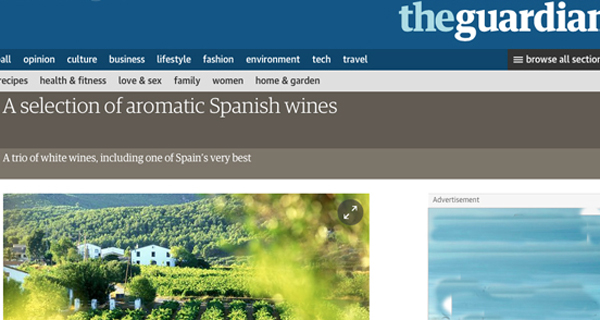 "Photo of O godello valdeorrés, en ""The Guardian"""
