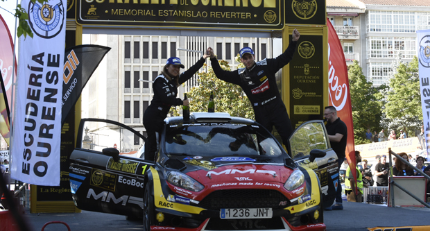 Photo of Cristian García faise novamente co primeiro posto nas vodas de ouro do Rallye Ourensán