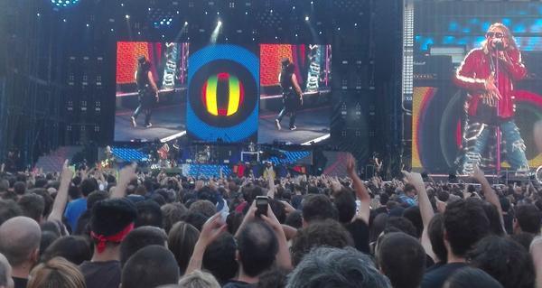 Photo of Valdeorreses no concerto de Guns N'Roses en Madrid