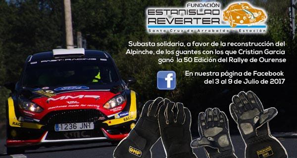 Photo of A Fundación Estanislao Reverter subasta as luvas do actual campión de España de rallyes, Cristian García