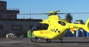 Un home é evacuado en helicóptero en Viana ao seres picado por unha vespa