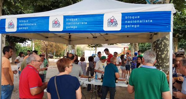Photo of Un cento de persoas na Festa da Patria, organizada polo BNG na Rúa
