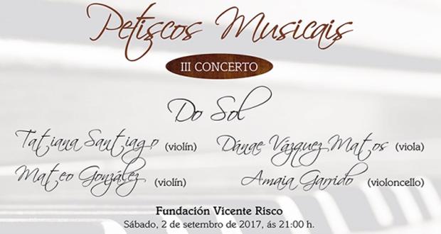 """Photo of Allariz ofrecerá un """"petisco musical"""" de cine co cuarteto de corda """"Do Sol"""""""