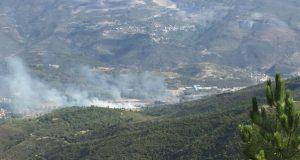 Incendio forestal en Quereño (Rubiá)