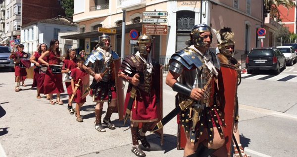 Photo of As lexións romanas desfilan por Qui-Roma