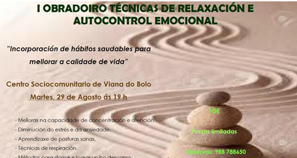 Photo of I Obradoiro de Técnicas de Relaxación e Autocontrol Emocional, en Viana