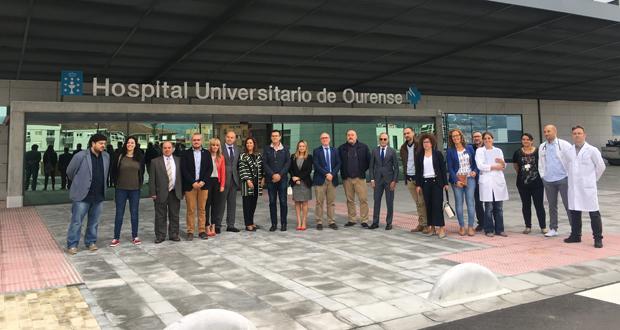 Photo of Representantes autonómicos e municipais visitan o novo edificio do CHUO