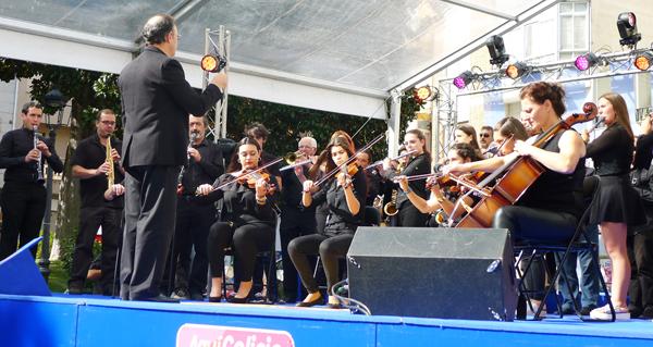 """Photo of A Banda de Música do Barco abre o programa """"Aquí Galicia"""""""