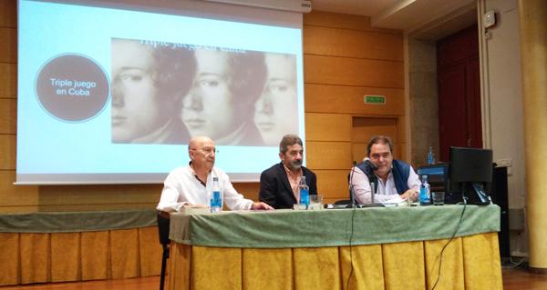 """Photo of Bernar Freiría presenta a súa novela """"Triple juego en Cuba"""" en Verín"""