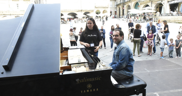 Photo of O son do piano envolve o centro de Ourense