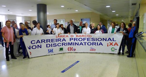 Photo of Concentración dos traballadores do HCV contra as medidas de conxelación salarial