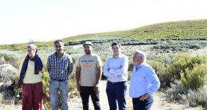 """Visita á """"zona cero da sequía"""" dos deputados provinciais socialistas Francisco Fraga e Miguel Bautista"""