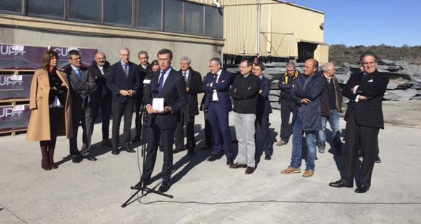 Photo of O presidente da Xunta visita o sector da lousa en Valdeorras