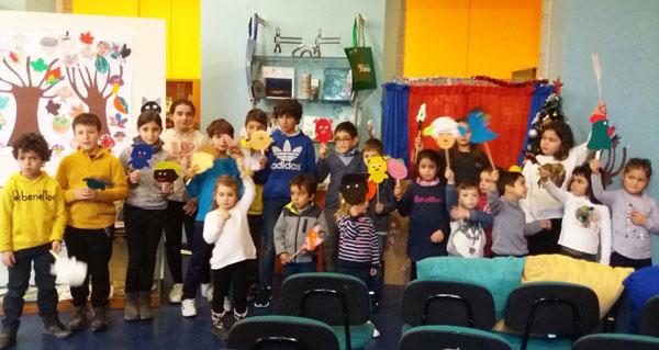 """Photo of Os nenos triveses, protagonistas da obra """"Poliño, un conto de Nadal"""""""
