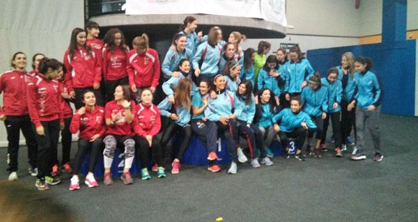 Photo of O equipo feminino do Adas, subcampión da Copa de Galicia de clubs en pista cuberta