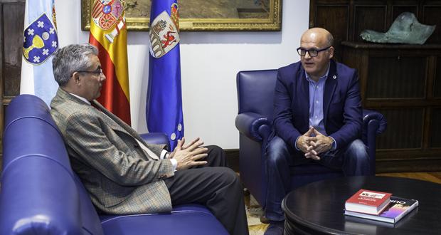 """Photo of A Deputación e a Universidade """"Menéndez Pelayo"""" estudan desenvolver actividades formativas"""
