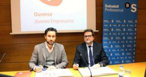 AJE Ourense e Sabadell Gallego asinan un convenio de colaboración