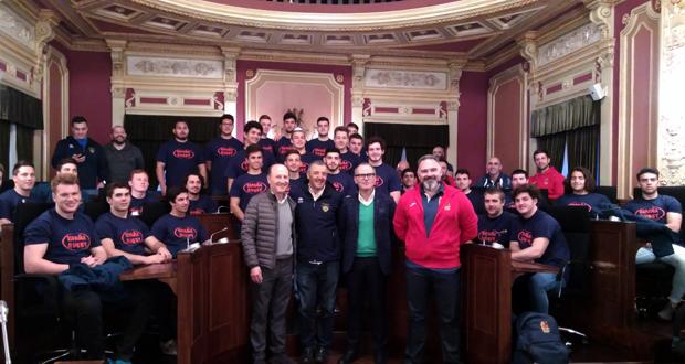 Photo of A Selección Española de Rugby sub-20 visita o Concello de Ourense