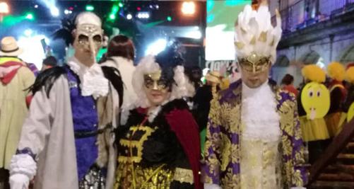 """Photo of Os disfraces do """"Carnaval Veneciano"""" gañan o concurso de Viana do Bolo no apartado grupal"""