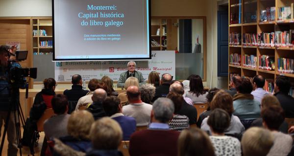 Photo of A historia do libro galego e a súa relación con Monterrei, na Biblioteca de Verín